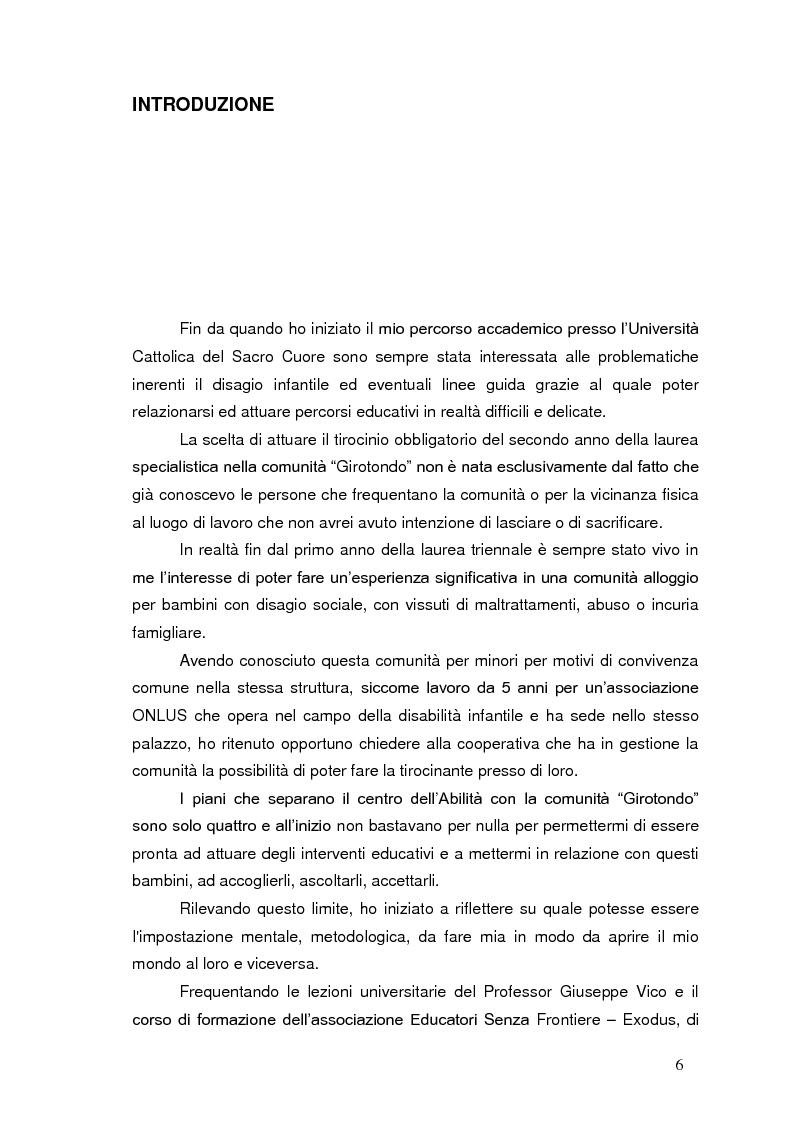 Anteprima della tesi: Bambini in cammino: erranza educativa e disagio in comunità per minori, Pagina 2