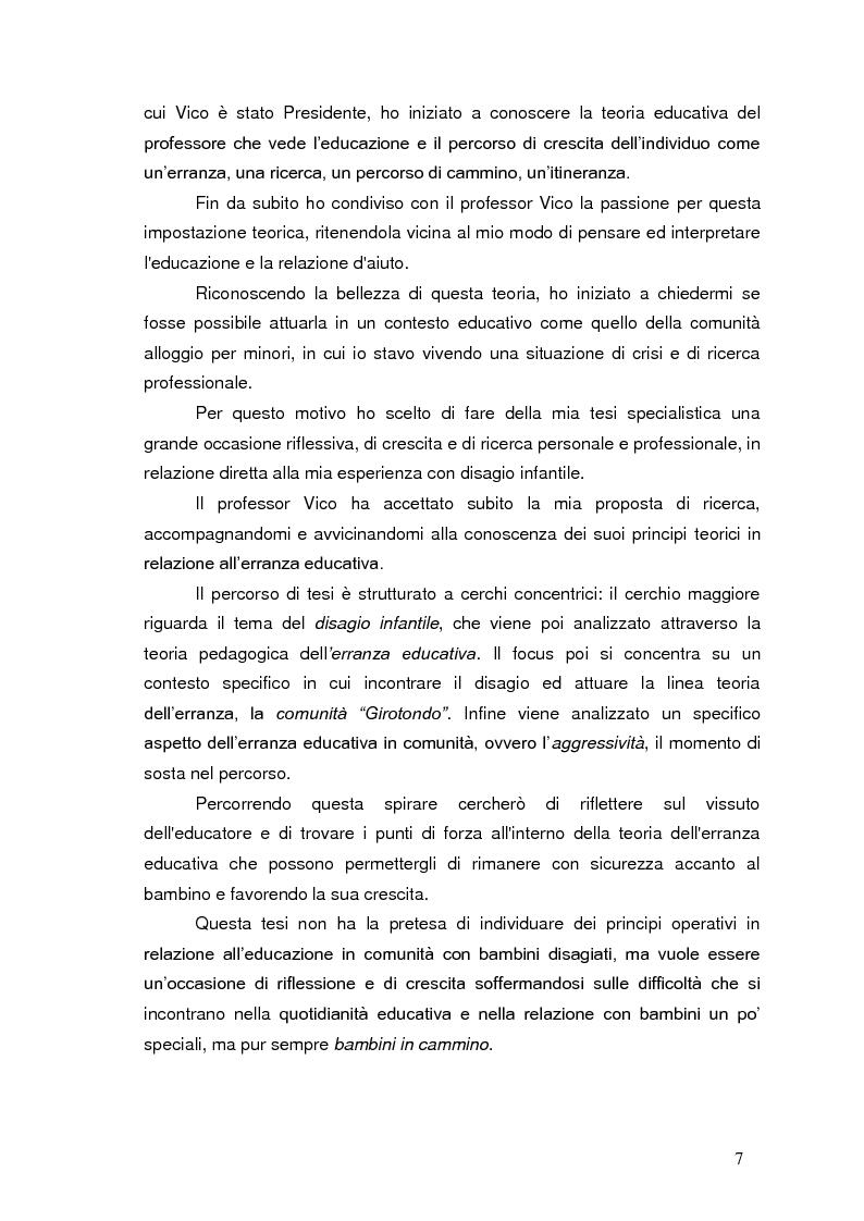 Anteprima della tesi: Bambini in cammino: erranza educativa e disagio in comunità per minori, Pagina 3