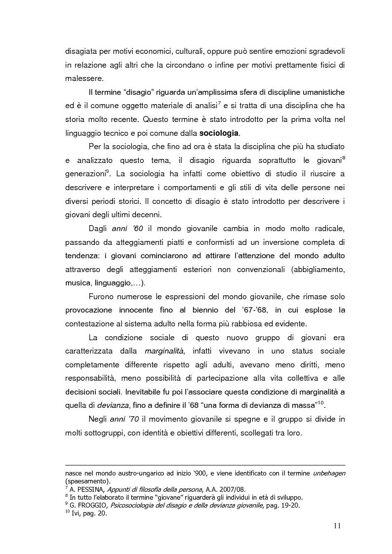 Anteprima della tesi: Bambini in cammino: erranza educativa e disagio in comunità per minori, Pagina 7