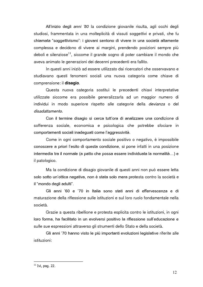 Anteprima della tesi: Bambini in cammino: erranza educativa e disagio in comunità per minori, Pagina 8