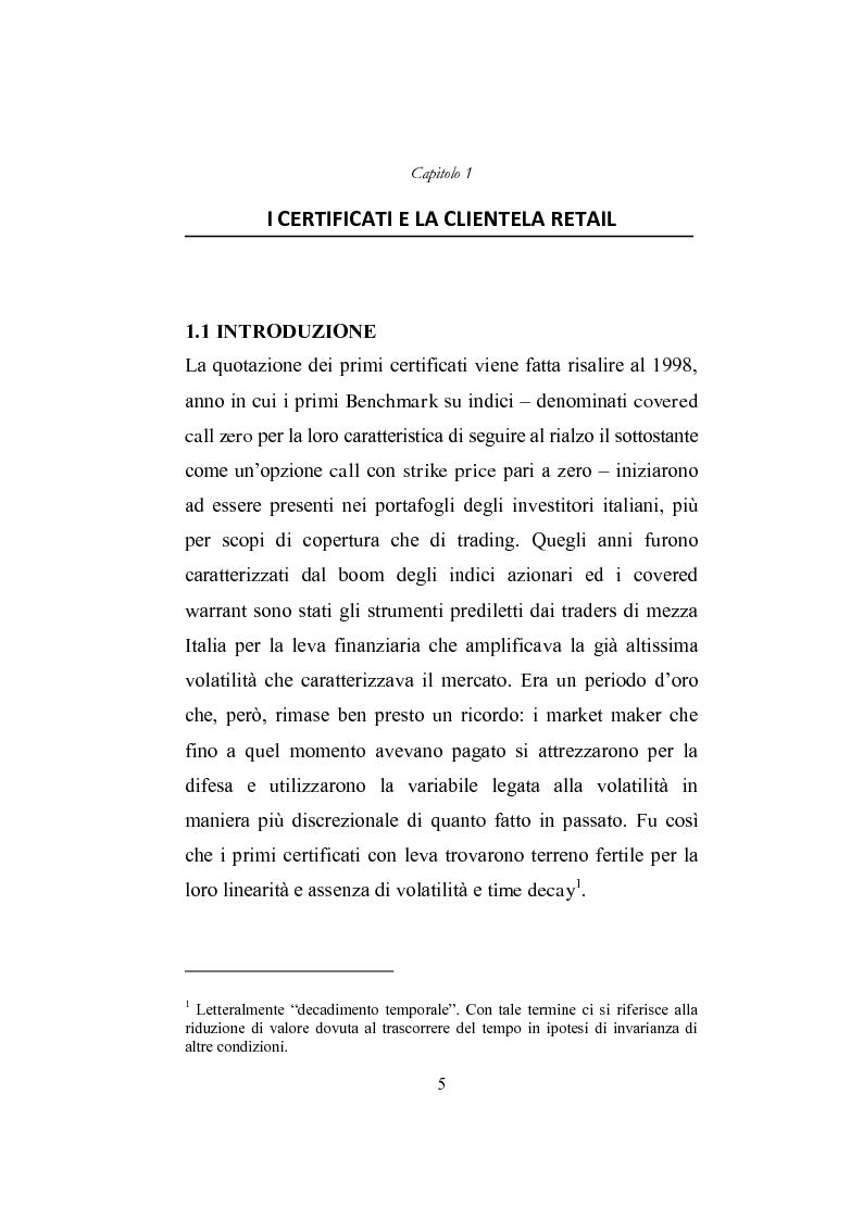Anteprima della tesi: I derivati per la clientela retail: gli Outperformance Certificates di Sal. Oppenheim, Pagina 5