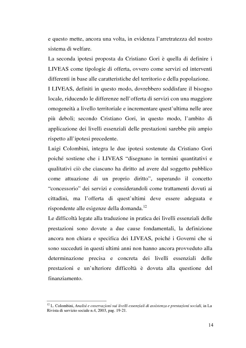 Anteprima della tesi: L'attuazione della 328/00: il caso di Campobasso, Pagina 11