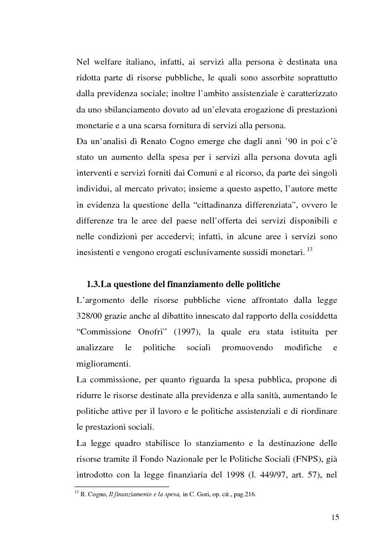 Anteprima della tesi: L'attuazione della 328/00: il caso di Campobasso, Pagina 12