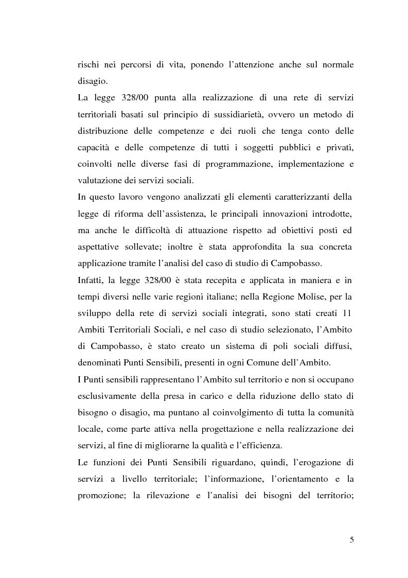 Anteprima della tesi: L'attuazione della 328/00: il caso di Campobasso, Pagina 2