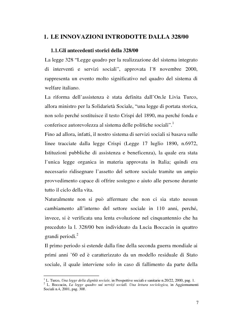 Anteprima della tesi: L'attuazione della 328/00: il caso di Campobasso, Pagina 4