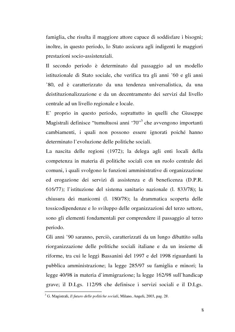 Anteprima della tesi: L'attuazione della 328/00: il caso di Campobasso, Pagina 5