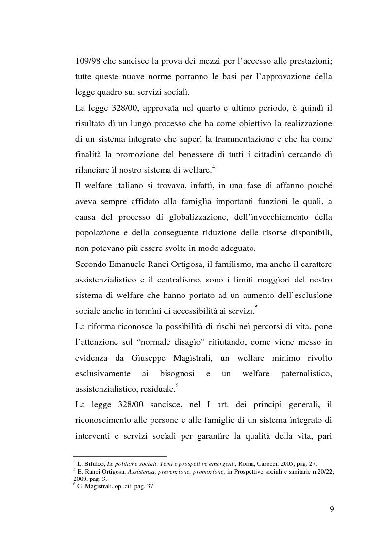 Anteprima della tesi: L'attuazione della 328/00: il caso di Campobasso, Pagina 6