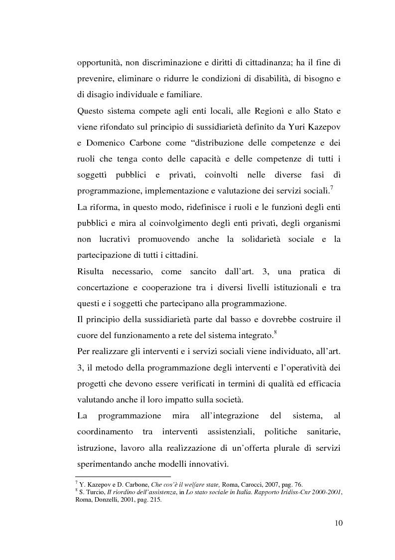 Anteprima della tesi: L'attuazione della 328/00: il caso di Campobasso, Pagina 7
