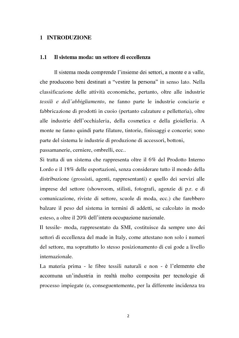 Anteprima della tesi: Le strategie di marketing delle imprese di moda. Tre casi a confronto: Gucci; Dolce & Gabbana; Mariella Burani., Pagina 1