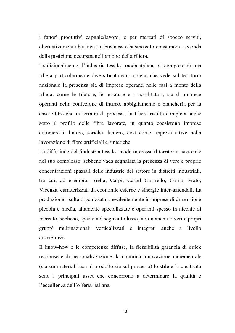 Anteprima della tesi: Le strategie di marketing delle imprese di moda. Tre casi a confronto: Gucci; Dolce & Gabbana; Mariella Burani., Pagina 2