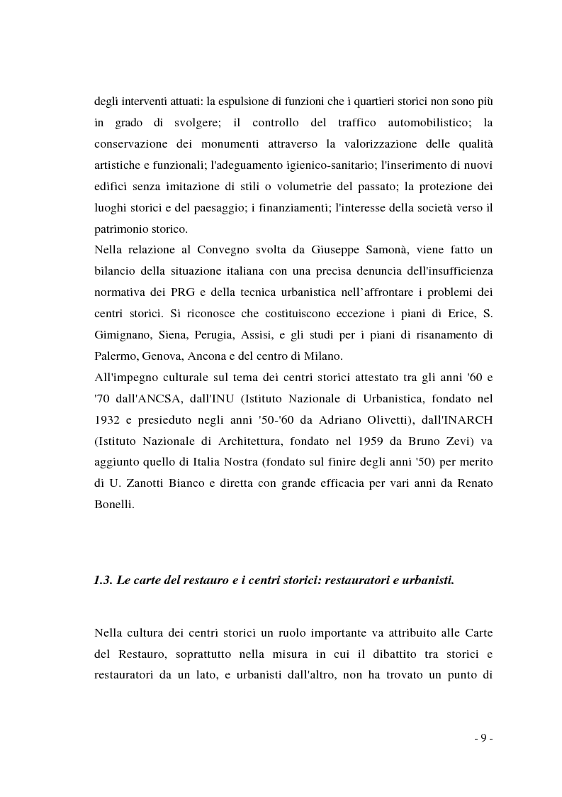 Anteprima della tesi: Pianificazione dei centri storici tra tradizione ed innovazione: una proposta per Capua, Pagina 5