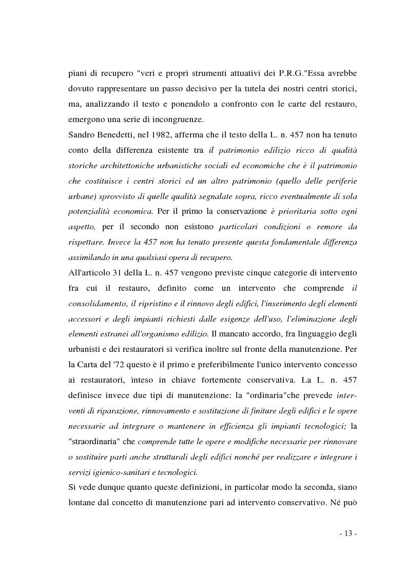 Anteprima della tesi: Pianificazione dei centri storici tra tradizione ed innovazione: una proposta per Capua, Pagina 9