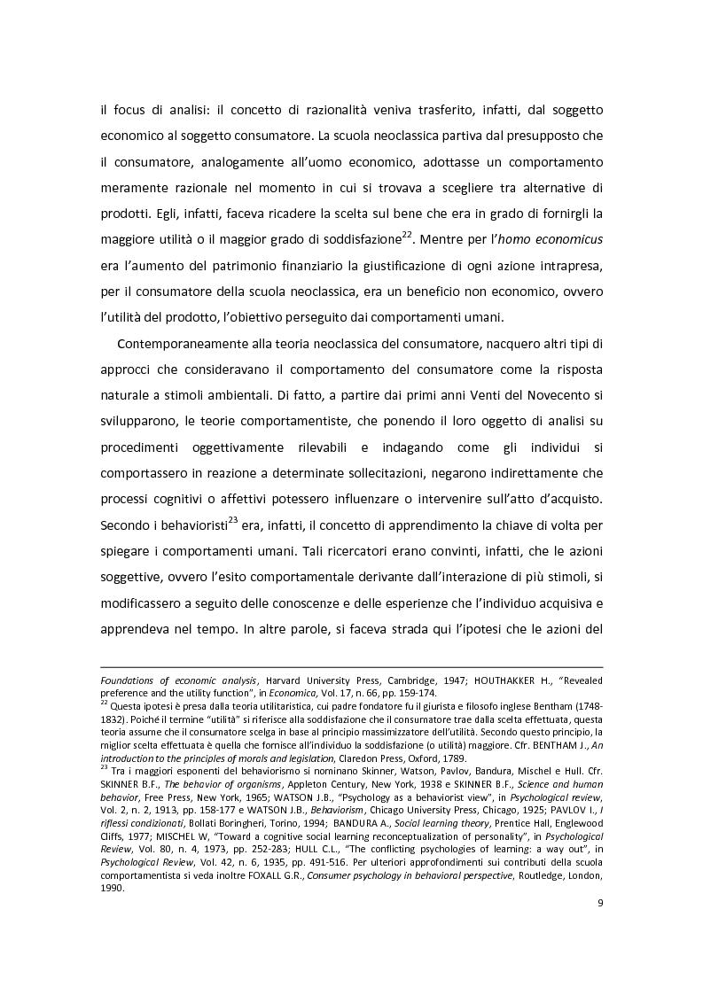 Anteprima della tesi: Modelli di Consumer Behavior per la determinazione dei fattori critici di successo nell'industria automobilistica: il caso Fiat 500, Pagina 13