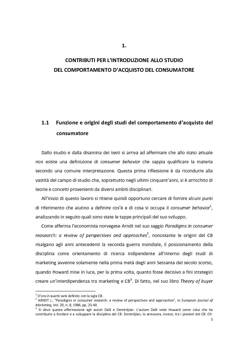 Anteprima della tesi: Modelli di Consumer Behavior per la determinazione dei fattori critici di successo nell'industria automobilistica: il caso Fiat 500, Pagina 7