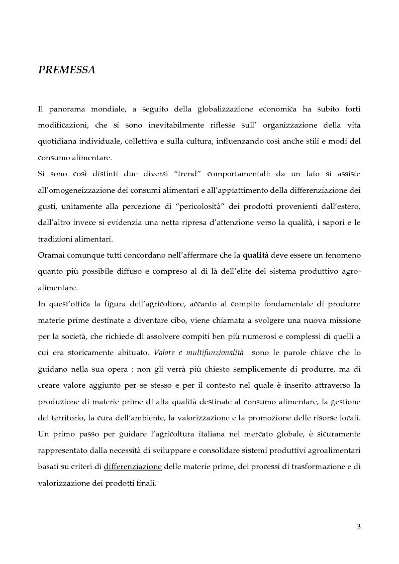 Anteprima della tesi: Linee guida per la predisposizione di un sistema di tracciabilità applicato alla filiera vitivinicola e del cappero nel territorio delle Isole Eolie, Pagina 1