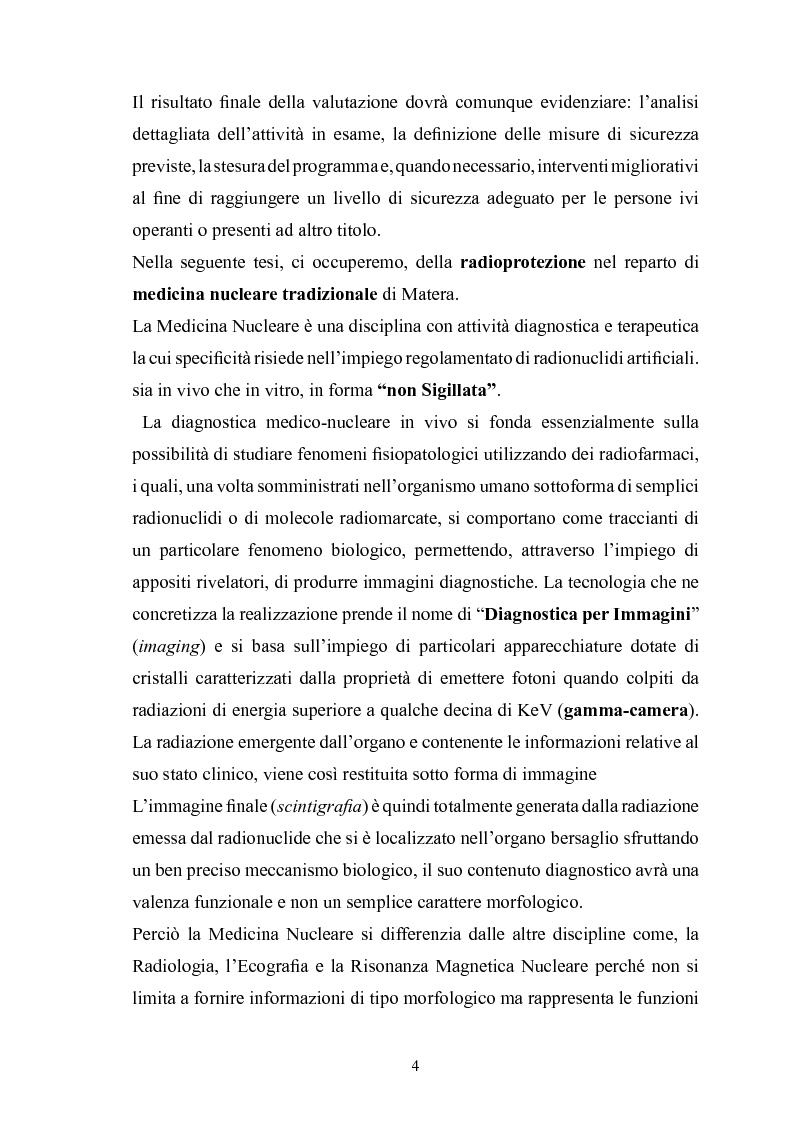 Anteprima della tesi: Gestione della sicurezza nei reparti di diagnostica di medicina nucleare con sorgenti radioattive non sigillate, Pagina 2