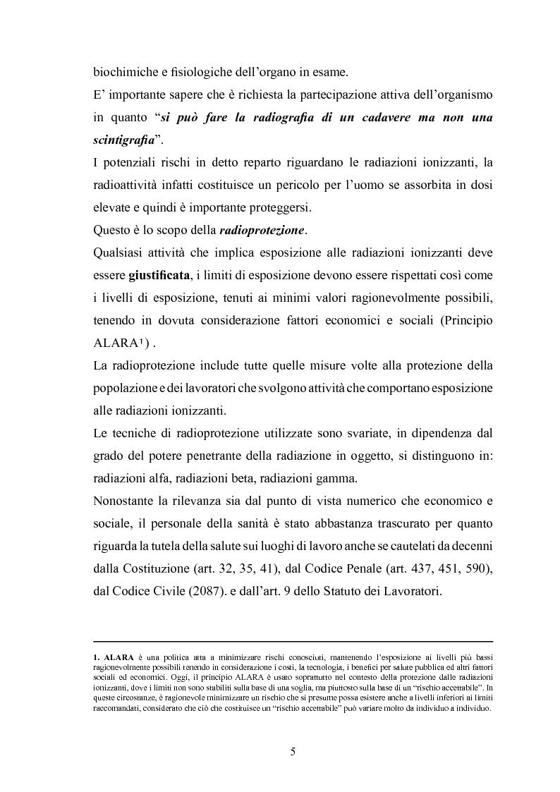 Anteprima della tesi: Gestione della sicurezza nei reparti di diagnostica di medicina nucleare con sorgenti radioattive non sigillate, Pagina 3