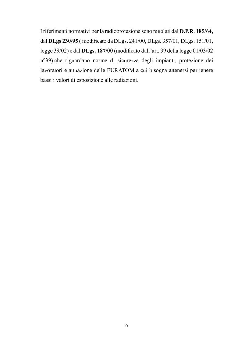 Anteprima della tesi: Gestione della sicurezza nei reparti di diagnostica di medicina nucleare con sorgenti radioattive non sigillate, Pagina 4