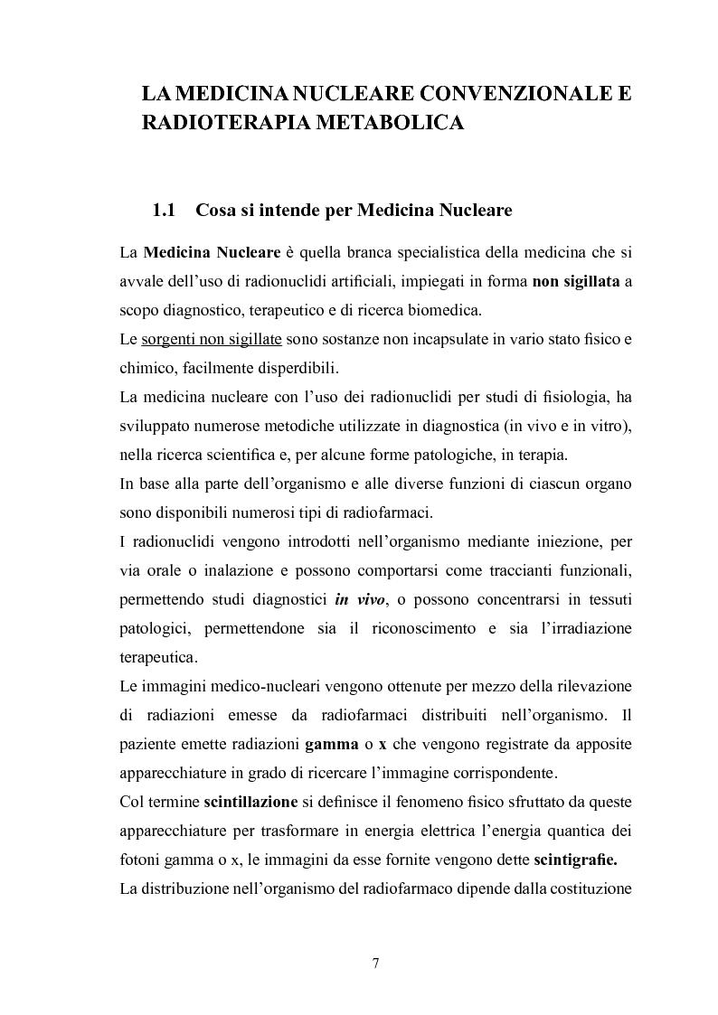 Anteprima della tesi: Gestione della sicurezza nei reparti di diagnostica di medicina nucleare con sorgenti radioattive non sigillate, Pagina 5