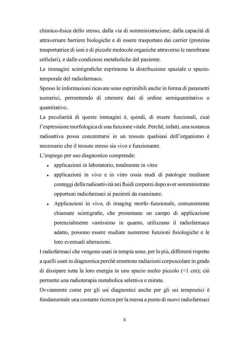 Anteprima della tesi: Gestione della sicurezza nei reparti di diagnostica di medicina nucleare con sorgenti radioattive non sigillate, Pagina 6