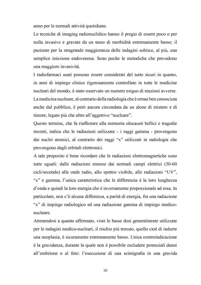 Anteprima della tesi: Gestione della sicurezza nei reparti di diagnostica di medicina nucleare con sorgenti radioattive non sigillate, Pagina 8