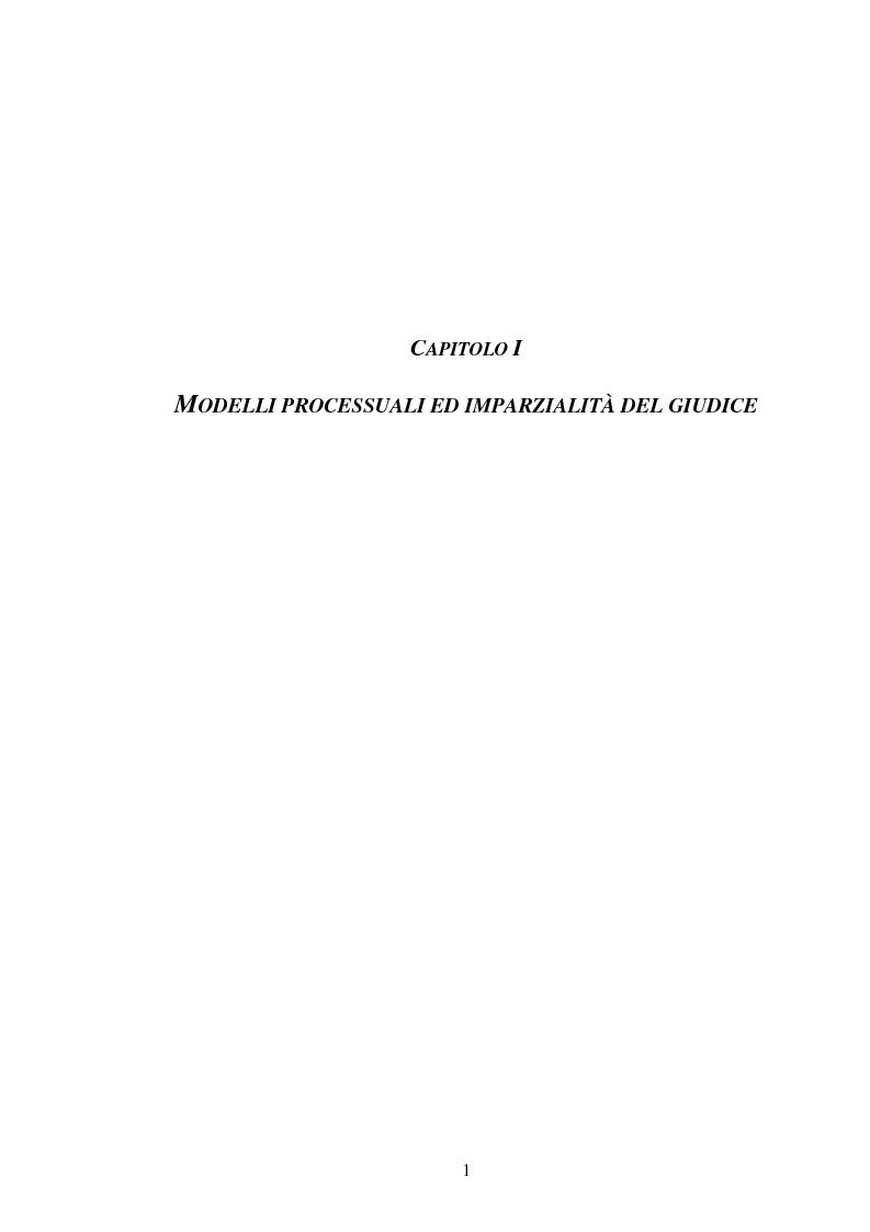 Anteprima della tesi: I poteri probatori del giudice, Pagina 1