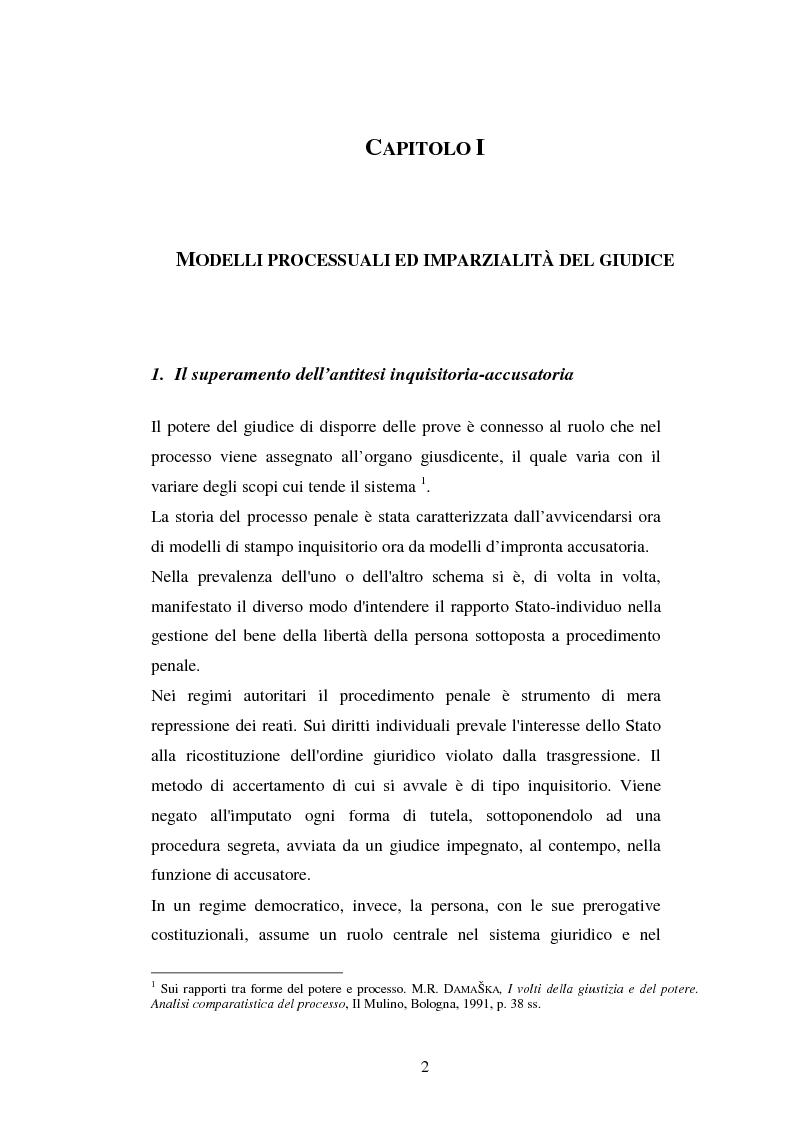 Anteprima della tesi: I poteri probatori del giudice, Pagina 2