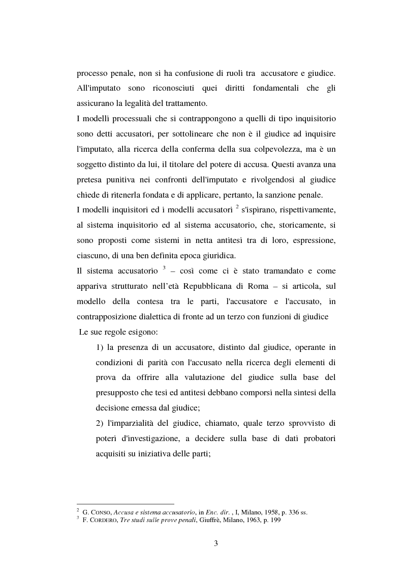 Anteprima della tesi: I poteri probatori del giudice, Pagina 3