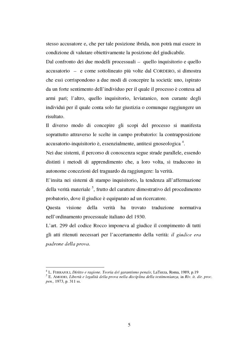 Anteprima della tesi: I poteri probatori del giudice, Pagina 5
