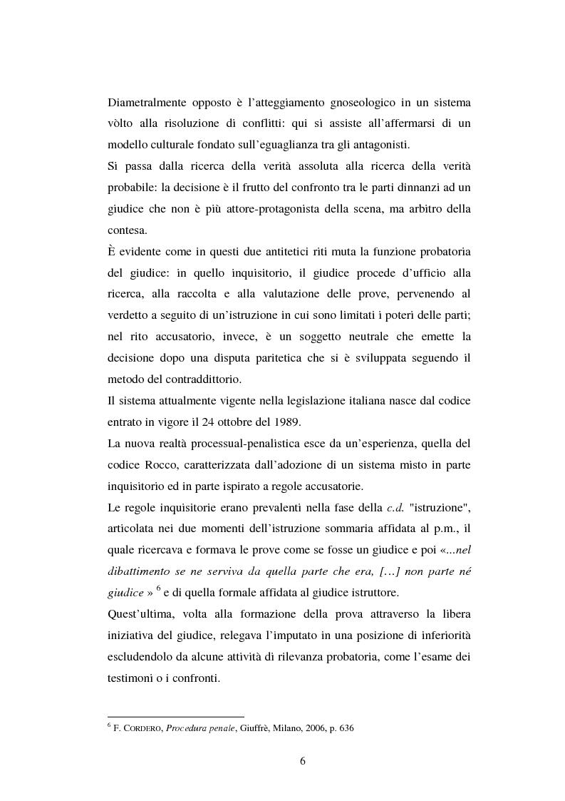 Anteprima della tesi: I poteri probatori del giudice, Pagina 6