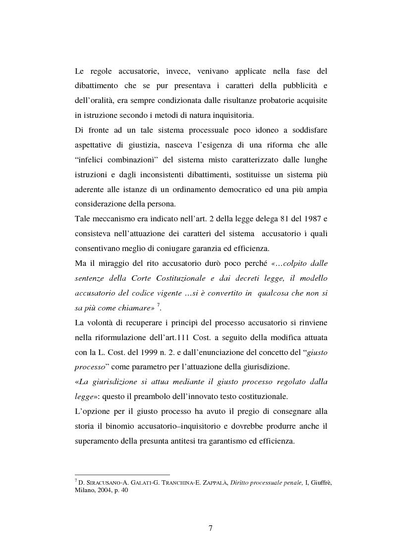 Anteprima della tesi: I poteri probatori del giudice, Pagina 7