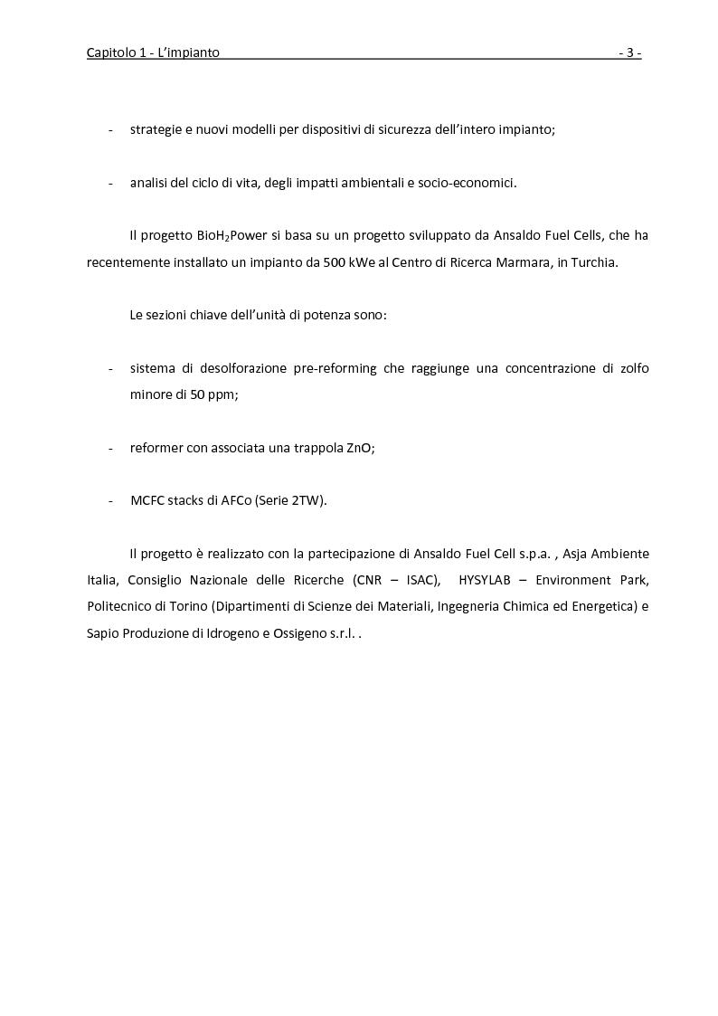 Anteprima della tesi: Ottimizzazione dei recuperi termici in un impianto con cella a combustibile a carbonati fusi tramite la tecnica della pinch analysis, Pagina 4