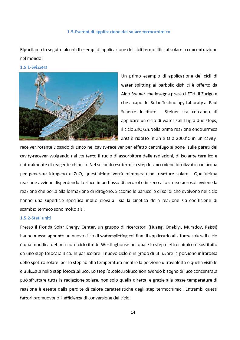 Anteprima della tesi: Ingegnerizzazione di uno nuovo ciclo di scissione termochimica dell'acqua, Pagina 14