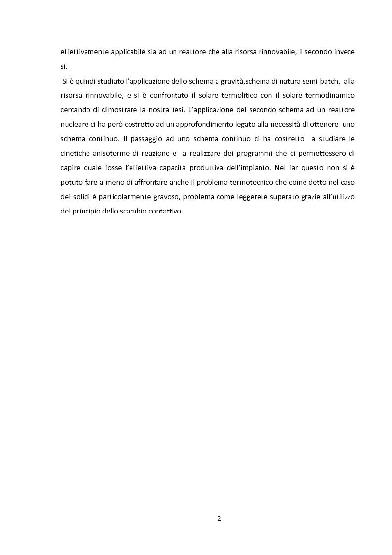 Anteprima della tesi: Ingegnerizzazione di uno nuovo ciclo di scissione termochimica dell'acqua, Pagina 2
