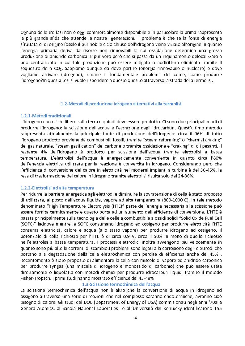 Anteprima della tesi: Ingegnerizzazione di uno nuovo ciclo di scissione termochimica dell'acqua, Pagina 4