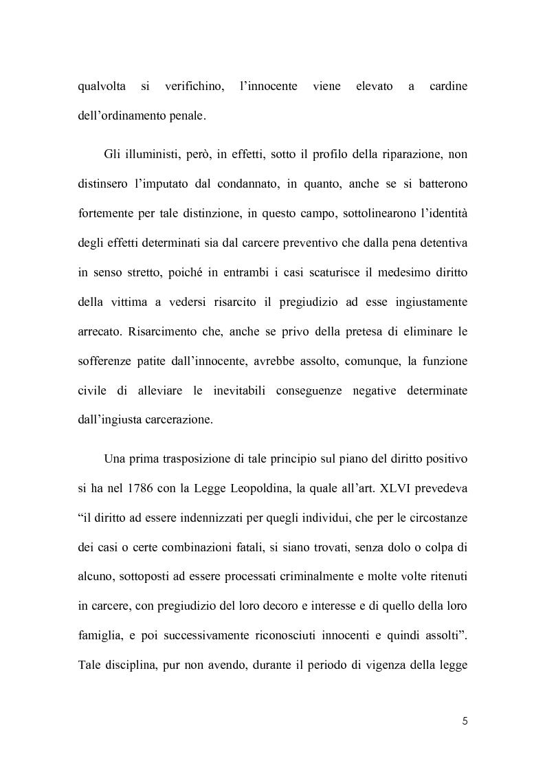 Anteprima della tesi: La riparazione per ingiusta detenzione alla luce della sentenza della corte costionale n.219 del 2008, Pagina 2