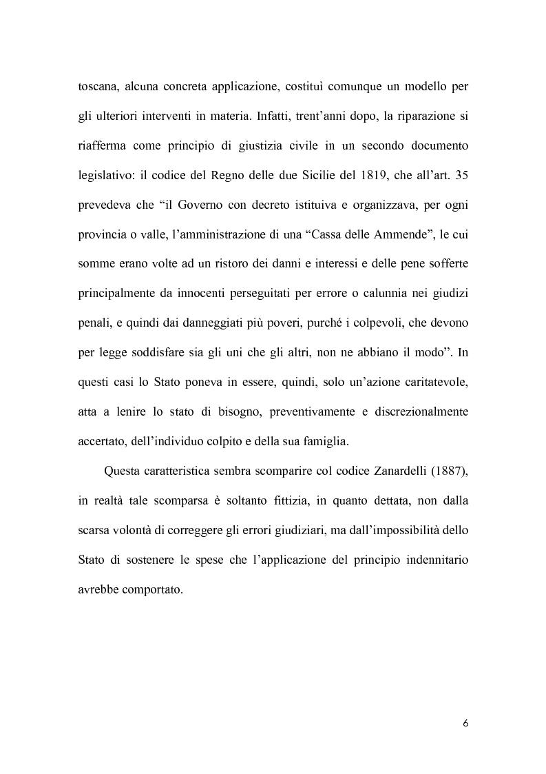 Anteprima della tesi: La riparazione per ingiusta detenzione alla luce della sentenza della corte costionale n.219 del 2008, Pagina 3