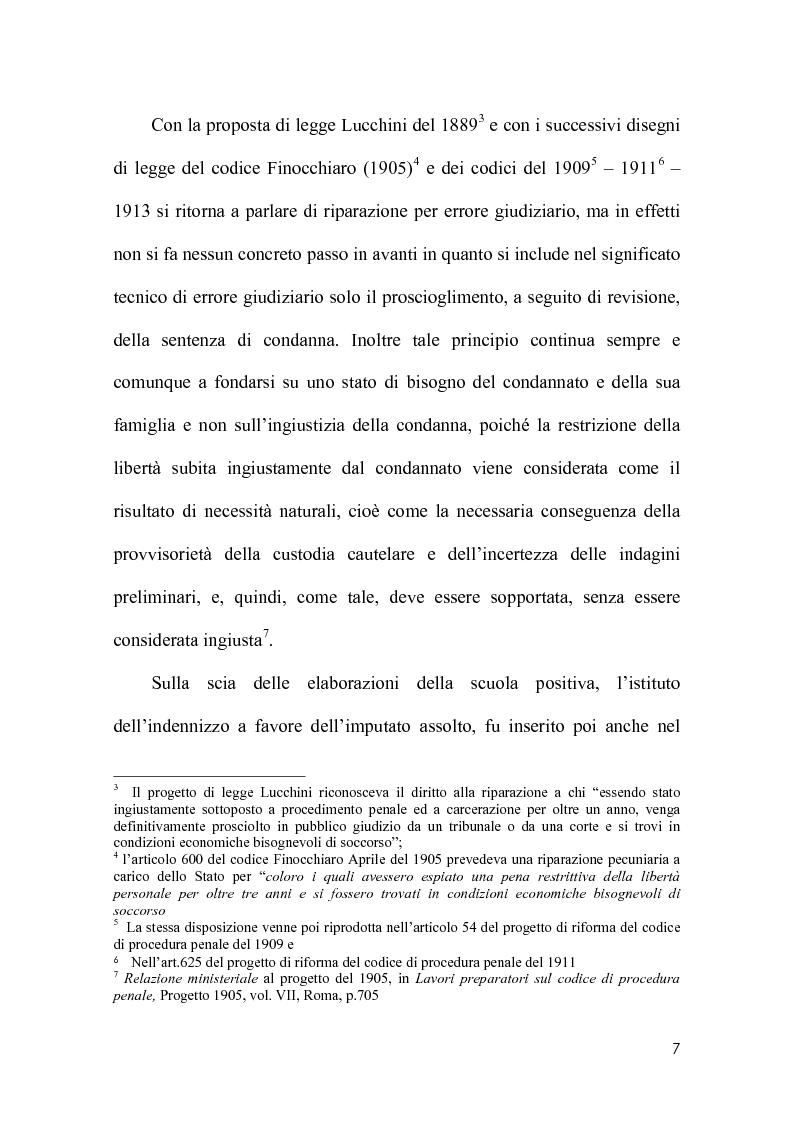 Anteprima della tesi: La riparazione per ingiusta detenzione alla luce della sentenza della corte costionale n.219 del 2008, Pagina 4