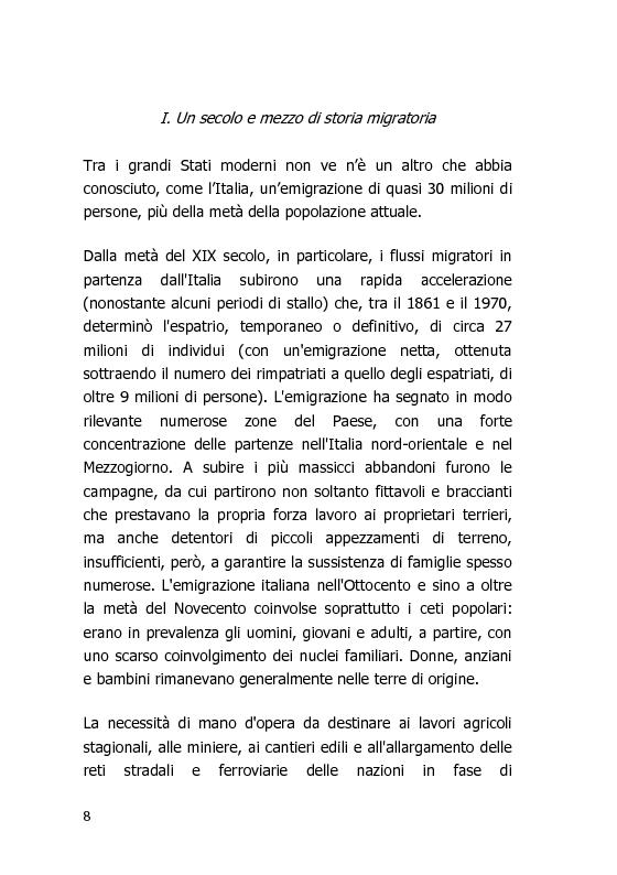 Anteprima della tesi: L'Italia vista dal mondo – Indagine sulla tv per gli italiani all'estero, Pagina 1