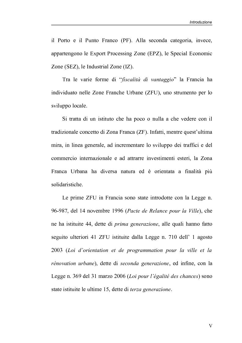 Anteprima della tesi: Zone Franche Urbane, Pagina 5