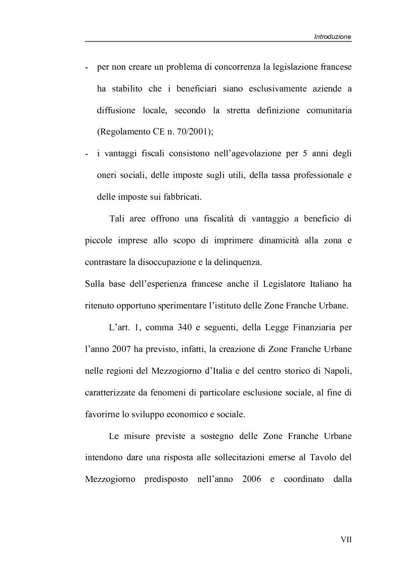 Anteprima della tesi: Zone Franche Urbane, Pagina 7