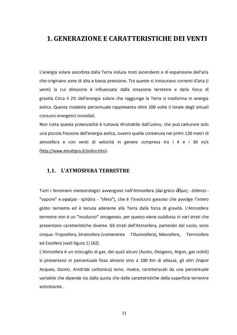 Anteprima della tesi: Valutazione del potenziale eolico dell'area di Vallata (AV) con l'utilizzo di modelli meteorologici ad area limitata, Pagina 1