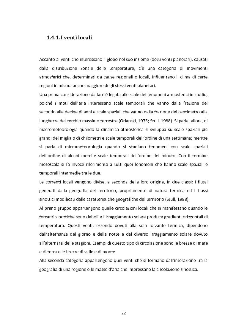 Anteprima della tesi: Valutazione del potenziale eolico dell'area di Vallata (AV) con l'utilizzo di modelli meteorologici ad area limitata, Pagina 12