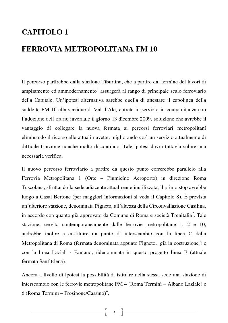 Anteprima della tesi: Progetto per un nuovo sistema di trasporto pubblico nel settore sud-orientale della città di Roma, Pagina 1