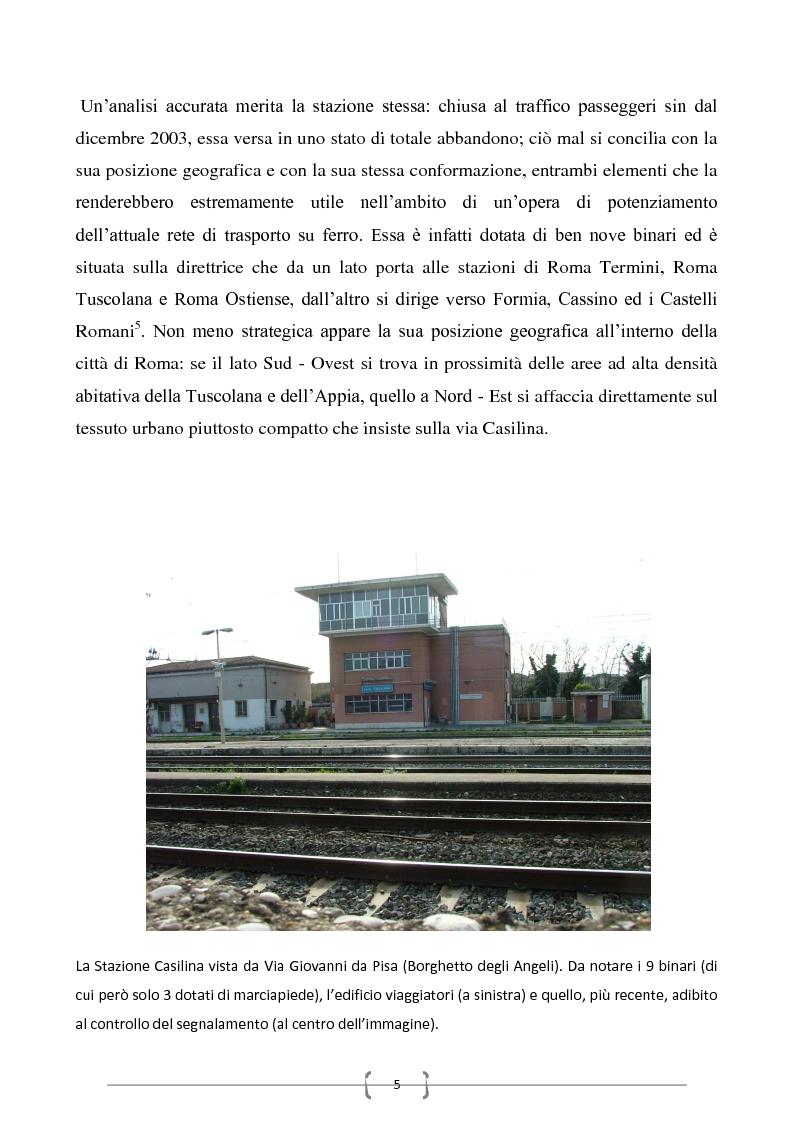 Anteprima della tesi: Progetto per un nuovo sistema di trasporto pubblico nel settore sud-orientale della città di Roma, Pagina 3
