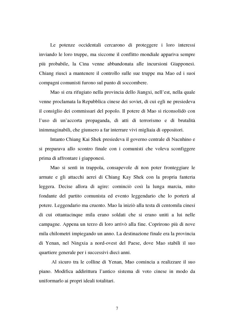 """Anteprima della tesi: Dal """"Grande Balzo in avanti"""" alla Grande carestia: 1958-1962 storia di un disastro annunciato, Pagina 3"""