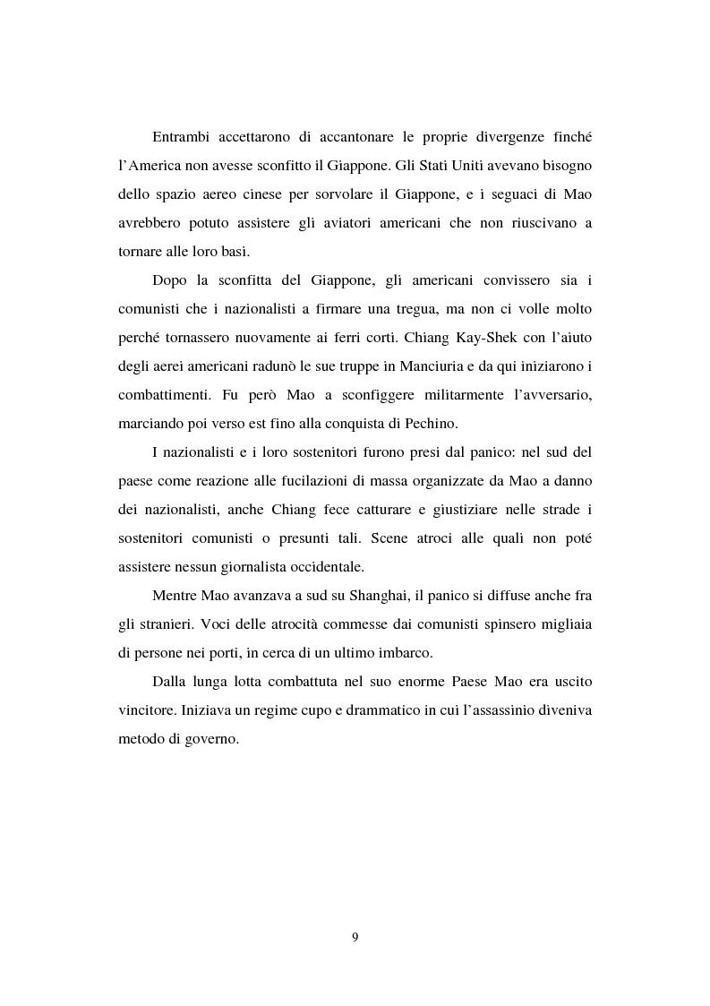 """Anteprima della tesi: Dal """"Grande Balzo in avanti"""" alla Grande carestia: 1958-1962 storia di un disastro annunciato, Pagina 5"""