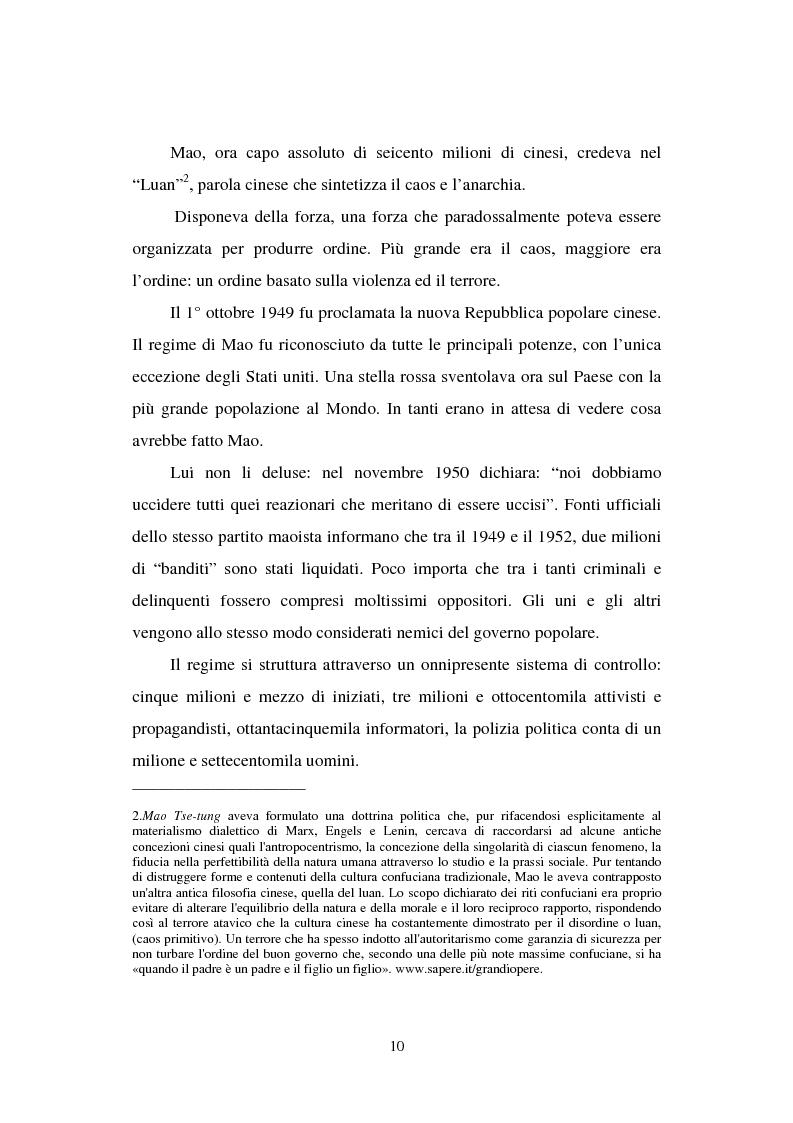 """Anteprima della tesi: Dal """"Grande Balzo in avanti"""" alla Grande carestia: 1958-1962 storia di un disastro annunciato, Pagina 6"""