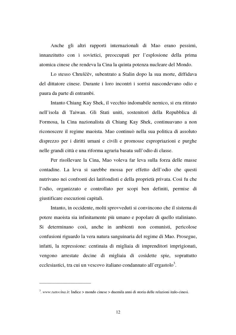 """Anteprima della tesi: Dal """"Grande Balzo in avanti"""" alla Grande carestia: 1958-1962 storia di un disastro annunciato, Pagina 8"""