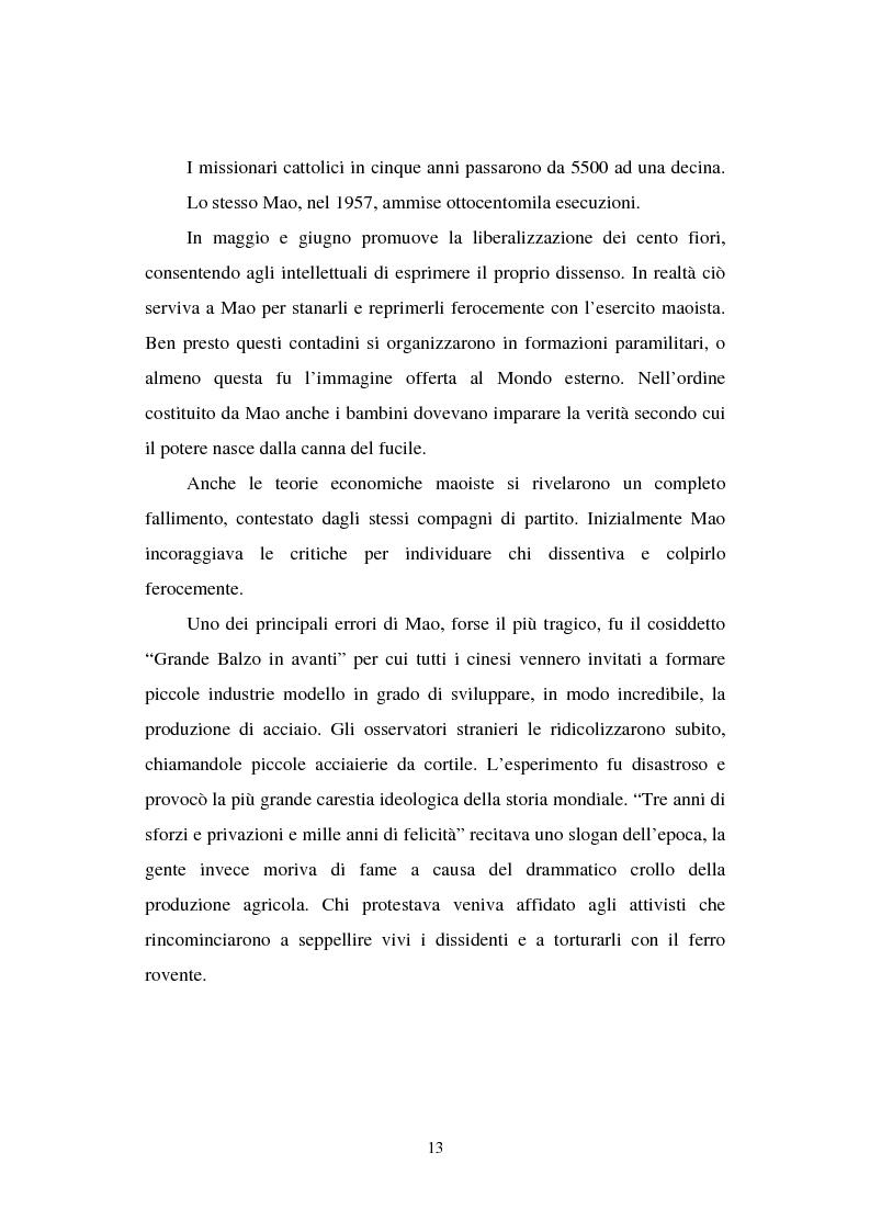 """Anteprima della tesi: Dal """"Grande Balzo in avanti"""" alla Grande carestia: 1958-1962 storia di un disastro annunciato, Pagina 9"""